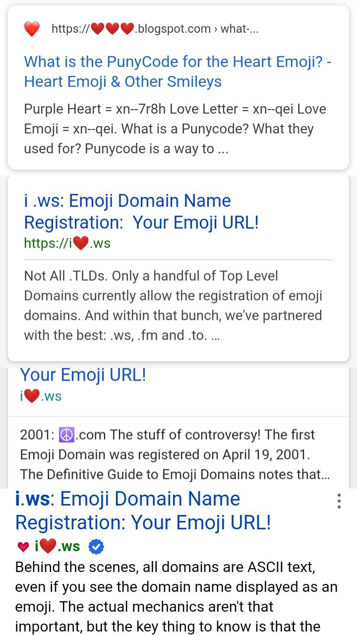 SERP Domain Emoji