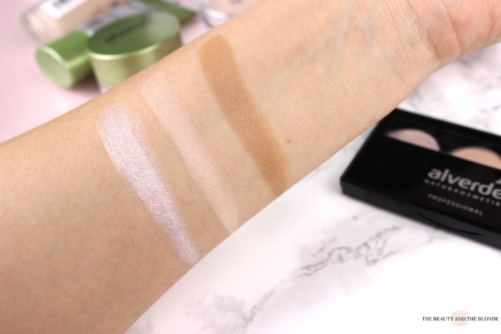 alverde neuheiten 2017 contouring kit swatches review