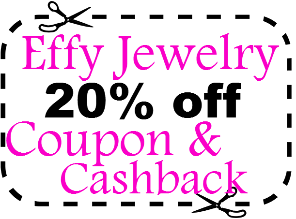 Effy Jewelry Coupon 20% off EffyJewelry.com Promo Code 2021 March, April, May, June, July, August