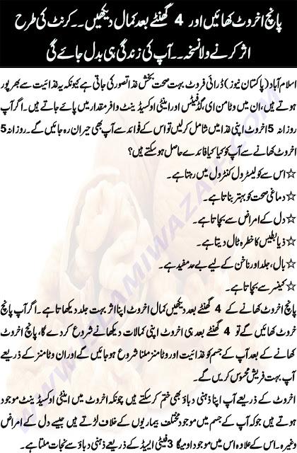 akhrot ke fayde in urdu
