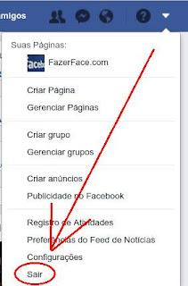 Como fazer logout no Facebook