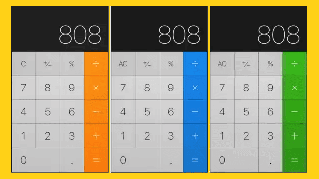 Change the color of the calculator with ColorCalculator