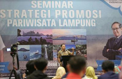 Dorong Lampung Sebagai Daerah Pariwisata Unggulan, Gubernur Ridho Undang Hermawan Kertajaya