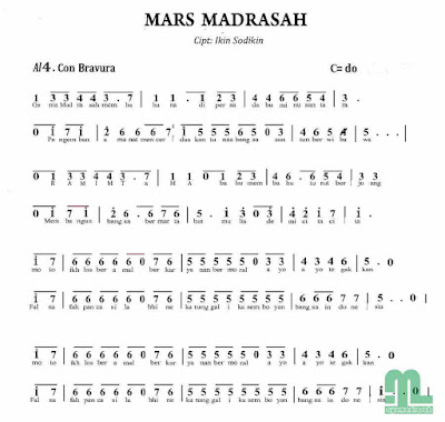 Not Lagu Mars Madrasah