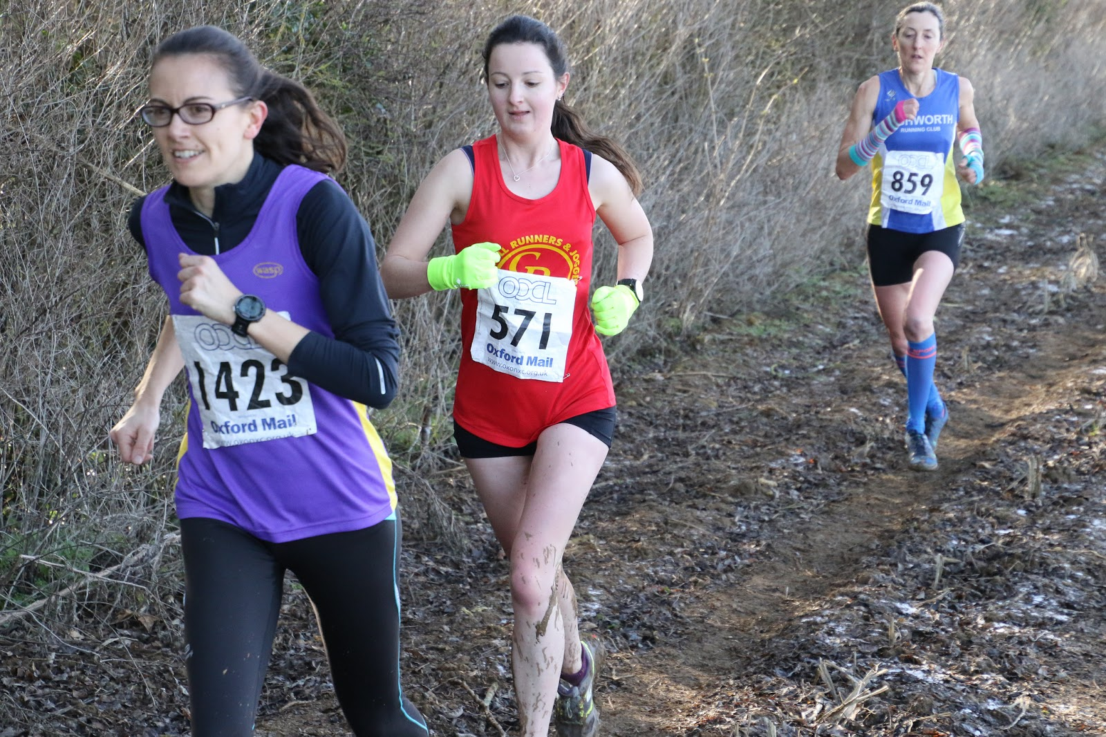 Running cross country in Oxon league at Addebury