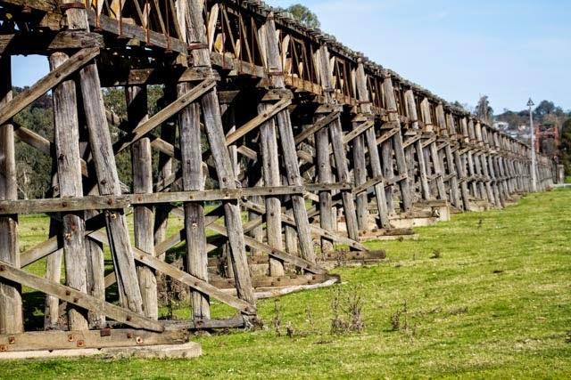 railway bridge in 1903 a railway bridge was thrown across the plain ...