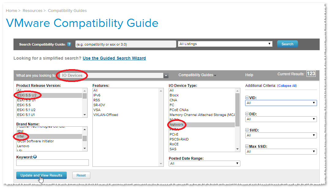 VMware Front Experience: How to make your unsupported NIC