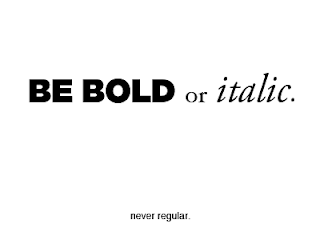 Bold, Italic & other format