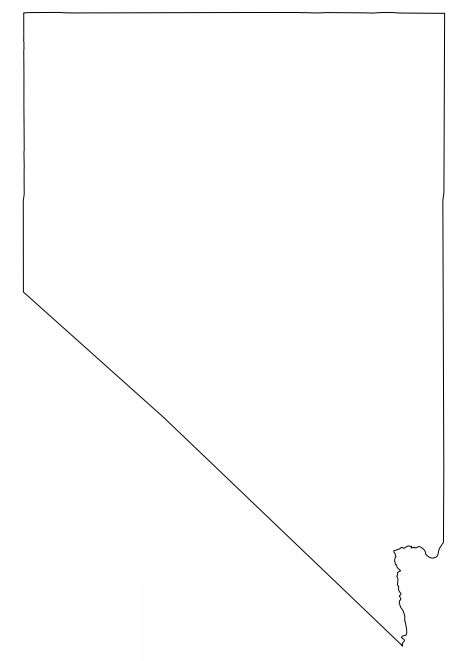 Blog Da Educacao Nevada Outline Map