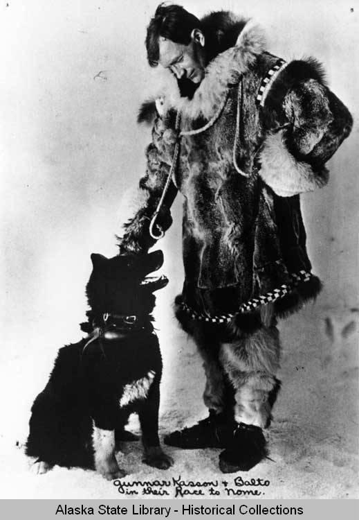 Gunnar Kaasen i jego przodownik - Balto