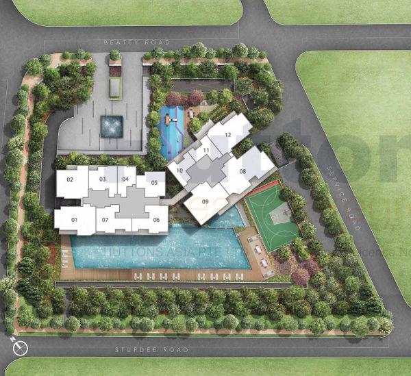 Sturdee Residences Siteplan