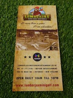 Leaflet from Lumberjax Mini Golf