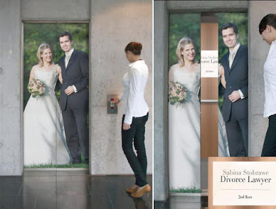 Divorce Lawyer Elevator Advertisement