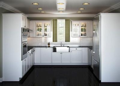 model lemari dapur kekinian