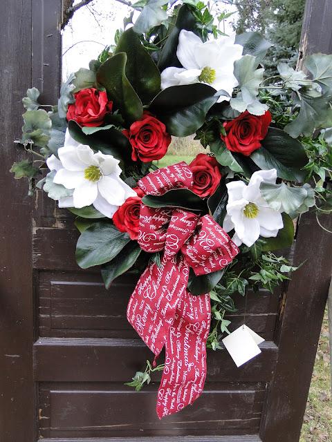 wreath at the Camellia