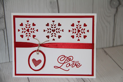 Valentine's Day Card with Saled with Love Stamp Set