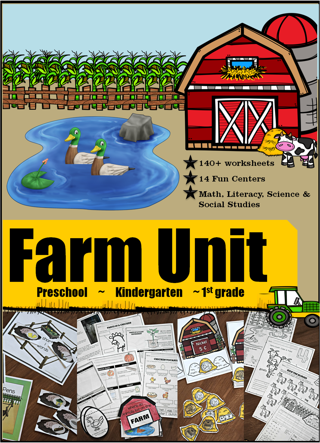 Farm Themed Worksheets For Preschool