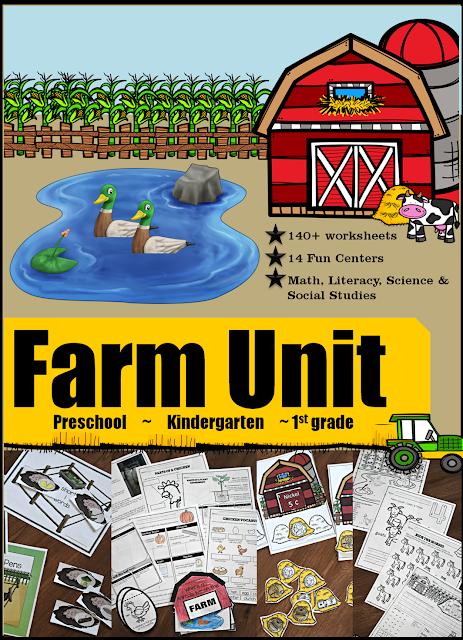 farm-unit-worksheets-activities-preschool-kindergarten-1st-grade