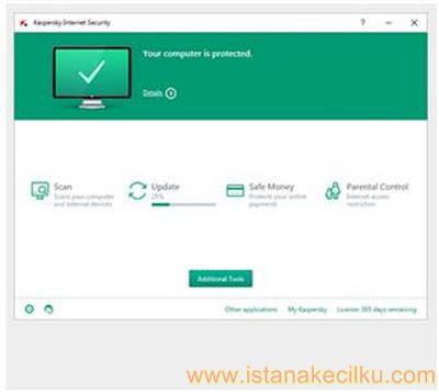 Kaspersky Internet Security adalah software premium. Antivirus ini melindungi komputer Anda terhadap virus & ancaman berbasis web. Sementara saat Anda berada pada on-line banking dan belanja online, antivirus ini akan menjaga identitas Anda dan menambahkan lapisan keamanan tambahan. Ini akan melindungi Anda dari malicious contents dan URL berbahaya dan membantu untuk menghilangkan nya dari komputer Anda.