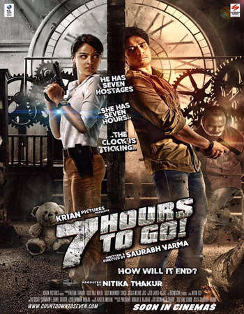 Poster Of 7 Hours to Go 2016 Hindi 130MB pDVD HEVC Mobile Watch Online Free Download Worldfree4u