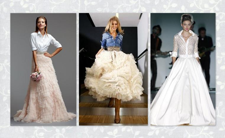 la yaya costurera: vestidos de novia diferentes // vestits de núvia