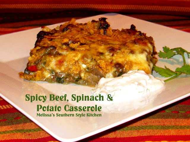 Spicy Beef Spinach And Potato Casserole