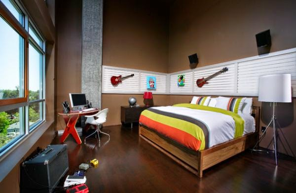 Dormitorio adolescente moderno