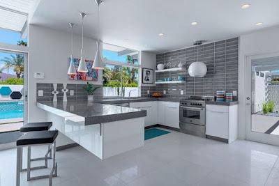 Weiße Küche Graue Arbeitsplatte