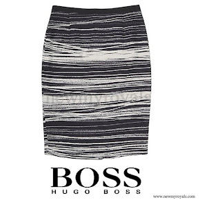 Queen Letizia wore HUGO BOSS Vapina Skirt