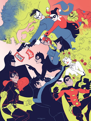 "Batman 75th Anniversary Screen Print Series - ""Gotham All Stars"" by Kevin Wada"