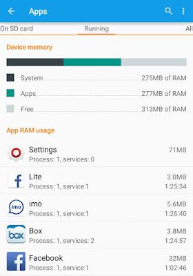 RAM usage details