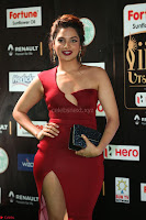 Natasha Nebasha in a Leg Slit Sleeveless Stunning Red Gown at IIFA Utsavam Awards 2017 080.JPG
