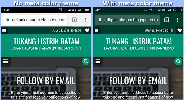 Meta theme color