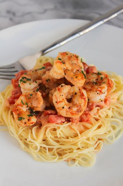 Cajun Shrimp Capellini | The Chef Next Door