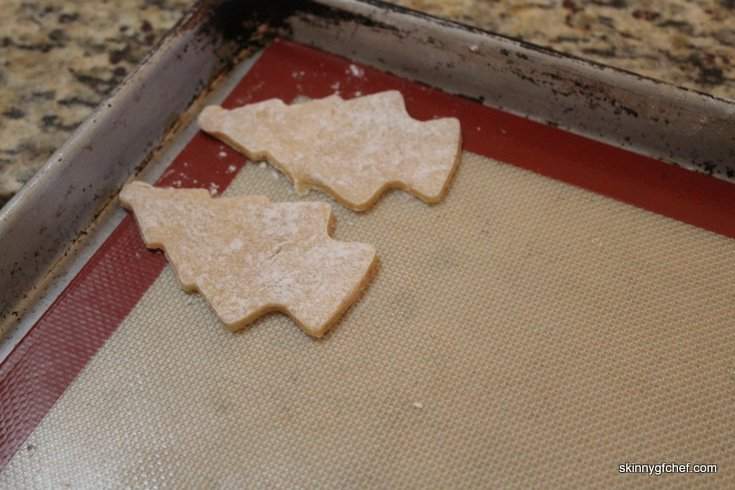 Scrumptious gluten-free Christmas sugar cookies made with only Mochiko (Sweet Rice) flour and Almond meal, xanthan free!
