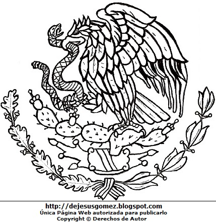 DIBUJOS FOTOS ACROSTICO Y MAS: DIBUJOS DEL ESCUDO DE MEXICO PARA ...