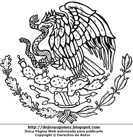 Del Aguila De Mexico Para Colorear | www.imagenesmy.com