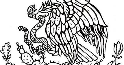 Pagina Educativa Madre Creativa Dibujos Del Escudo De Mexico Para Colorear Pintar E Imprimir