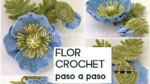 Flor Crochet Tunecino con broche / Paso a paso
