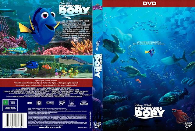 Capa DVD Procurando Dory