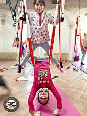 yoga aéreo kids