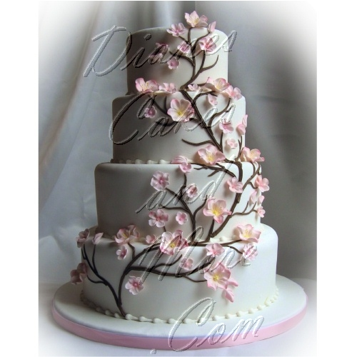 Cherry Blossom Wedding Cake Greek Wedding Dresses 50th Wedding