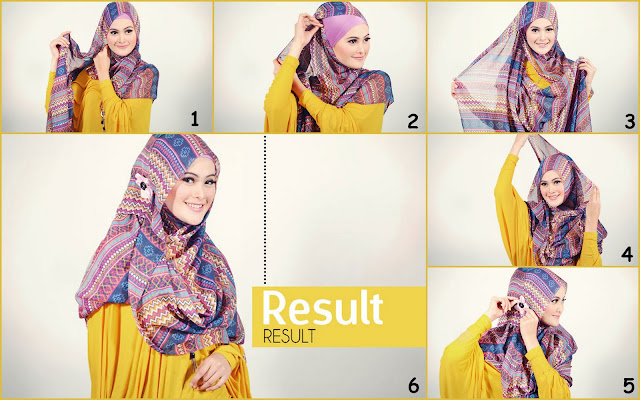 Tutorial Hijab Pashmina Modern Simple