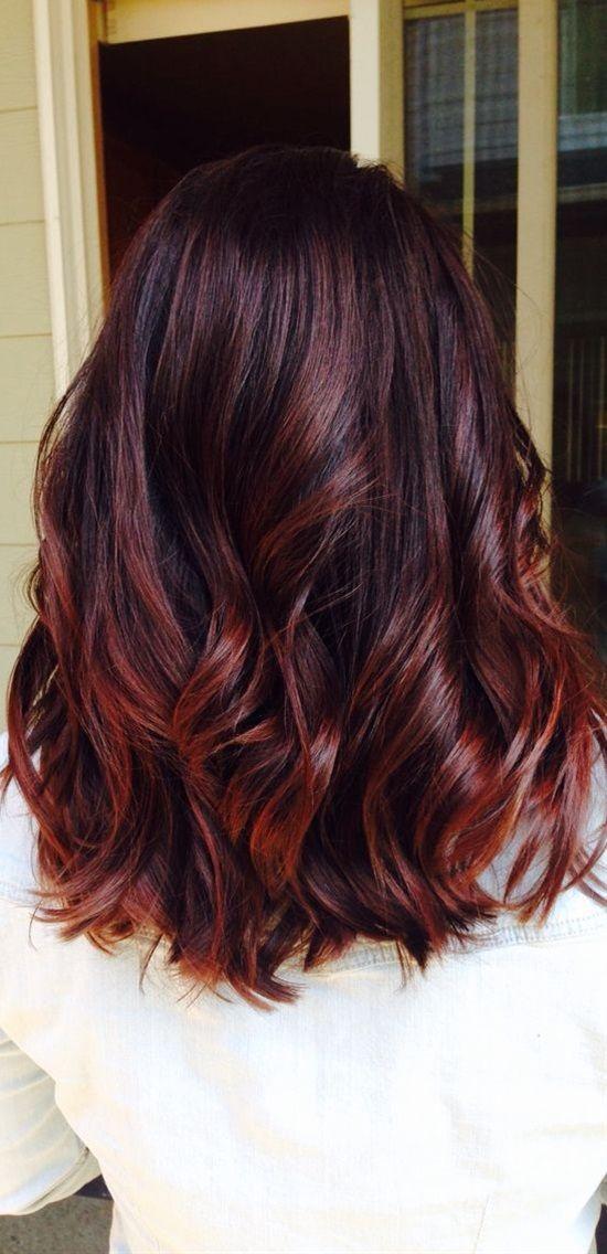 Mahogany hair with caramel highlights 9