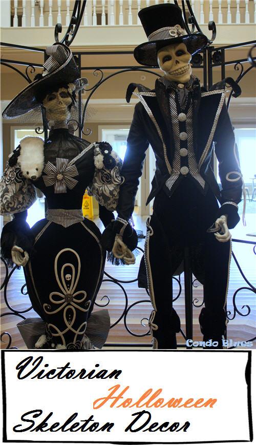 diy victorian skeleton halloween decoration - Victorian Halloween Decorations