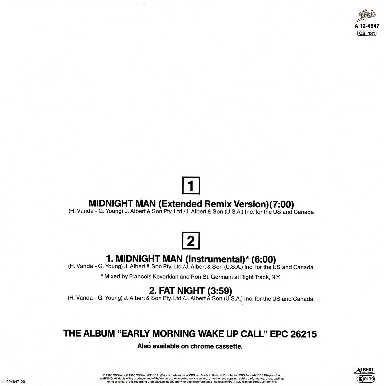 Missing Hits 7: FLASH AND THE PAN - MIDNIGHT MAN [RESUBIDO]