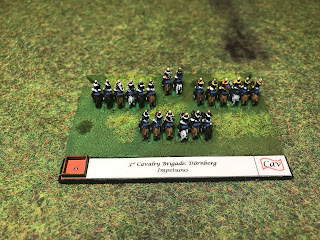 Blucher base labels and 6mm figures by Baccus of 3rd Cavalry Brigade