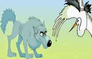 Fabula el lobo y la grulla