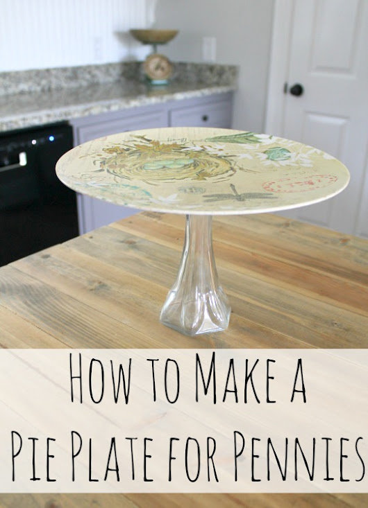 An Easy DIY Spring Pie Plate