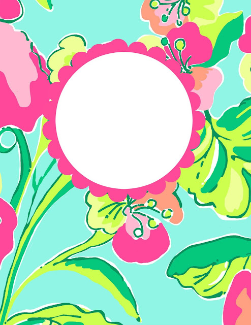 lilly pulitzer free printable binder cover island cocktail print preppy style